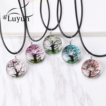 Luyun Womens Necklace Tree of Life Dried Flower Bohemian Long Wholesale