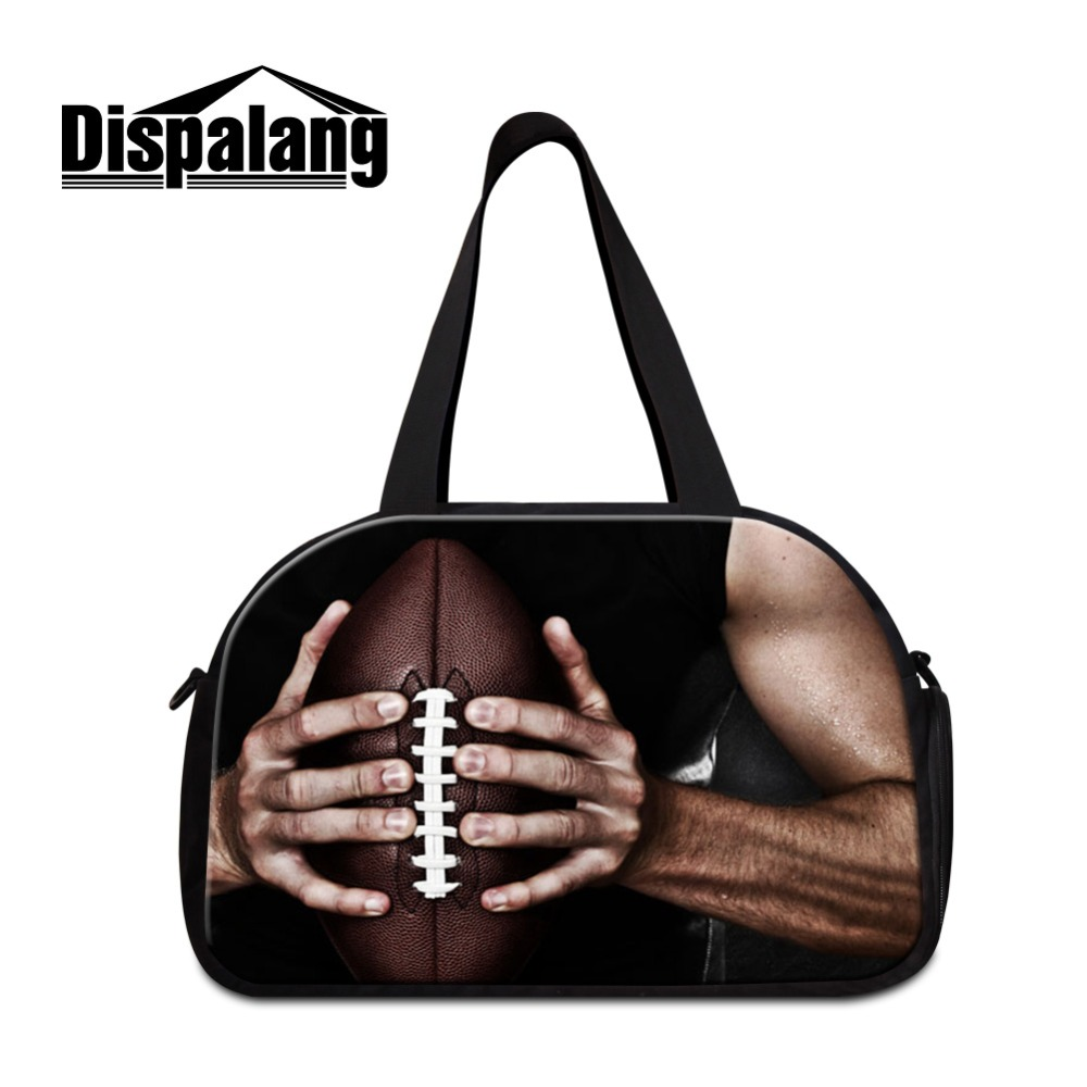 Dispalang Fashion Printing Rugbyl Sporty Latest Travel Bags for Men Tour Totes Bag for Ladies Pretty Style Duffle Bags for Guy