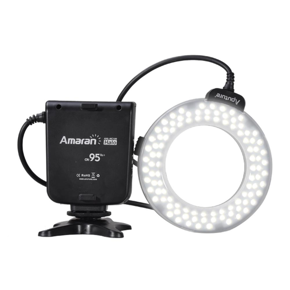 HC100 CRI 95+ Amaran Halo LED Macro Ring Flash light For Canon EOS 7D 6D 50D 5D Mark III 5D Mark II 700D 70D kolivar aputure hc100 led marco ring light video flash light for canon 5d mark ii iii 5d2 7d 6d 70d 700d 650d 60d 600d camera