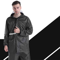 Adult Raincoat Suit Impermeable Women/Men Hooded Motorcycle Poncho Motorcycle Rainwear L 4XL Hiking Fishing Rainwear Set