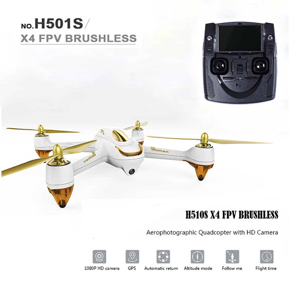 Hubsan H501S X4 RC Drones 5.8G FPV Brushless With 1080P HD Camera GPS RC Quadcopter Switch Remote Control Drone Dron Helicopter rc drone hd camera 2 4g 6 axis gyro remote control s9 s8 aircraft helicopter drones white black dron vs xs809w