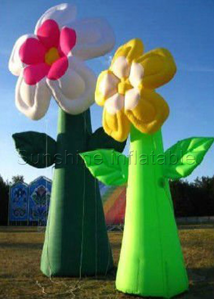 Outdoor Standing Party Event Decorative Giant Inflatable Flower