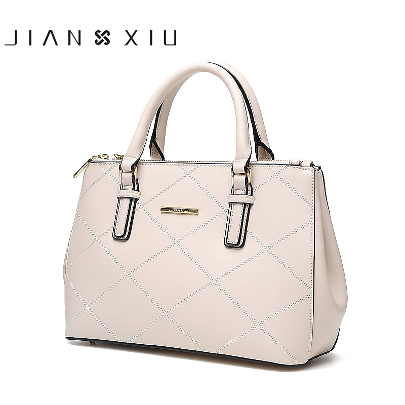 JIANXIU Brand Women Leather Handbags Messenger Bag Split Handbag Female Shoulder Bag 2018 New Fashion Tassen Sac a Main Tote Bag neverout oil wax style split leather bag for women vintage boston bag shoulder sac 3 color handbags tote zipper tote new handbag