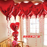 Valentine S Aluminum Balloons 32 Inch Large Red Heart Shaped Wedding Wedding Room Decoration Balloons Heart