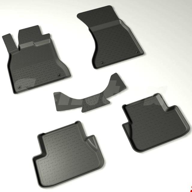 Для Audi A4 B8 2007-2014 резиновые коврики в салон 5 шт./компл. Seintex 86674