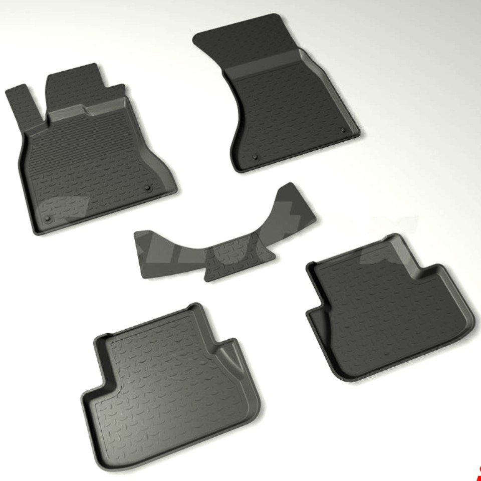 For Audi A4 B8 2007-2014 rubber floor mats into saloon 5 pcs/set Seintex 86674 ковры seintex audi a4 2007