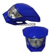 12 В синий Универсальный мотоциклов фара для велосипеды грязи HONDA CRF XR YAMAHA WR YZ SUZUKI DR DMZ KAWASAKI KLX KX