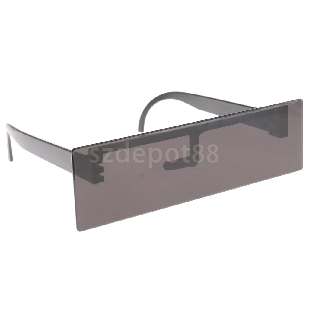 Novelty Black Censor Bar Sunglasses Funny Eye Block Glasses Cosplay Prop
