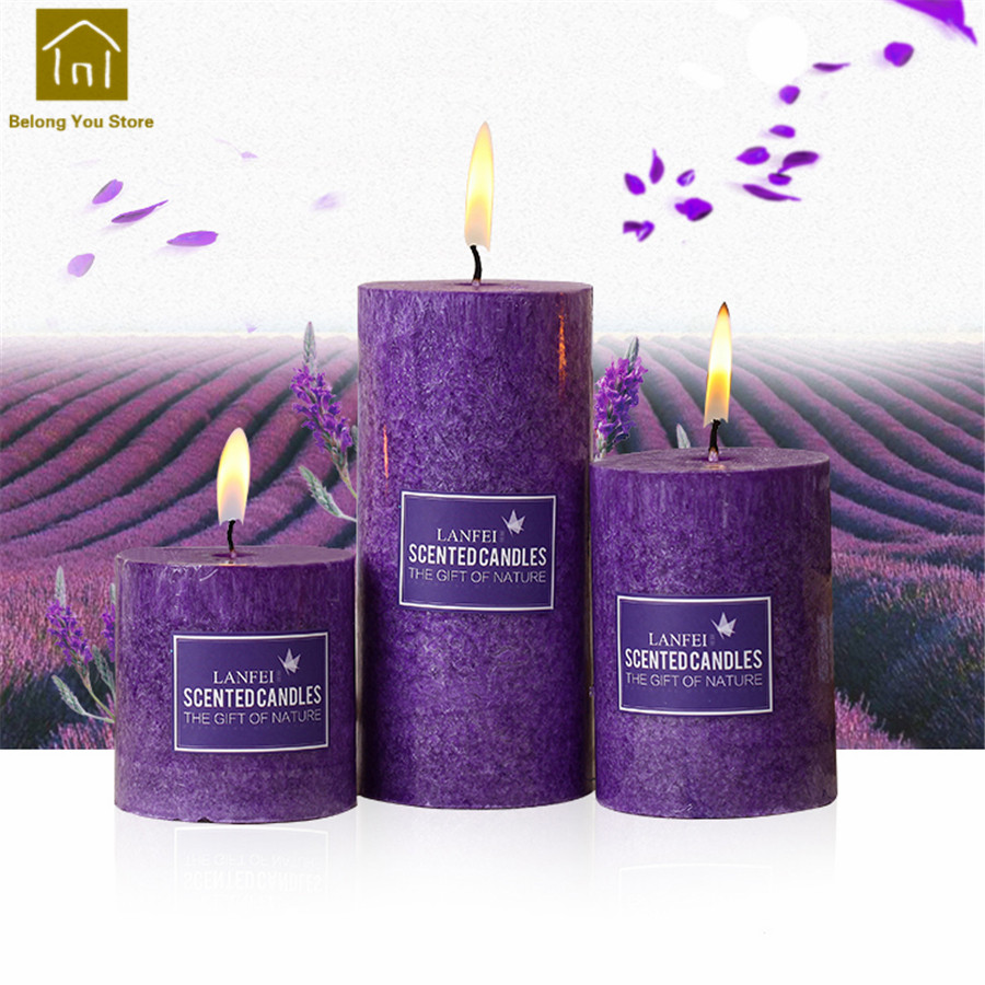 Decorative Scented Candles Aromatherapy Gifts Fragrant European Smokeless Candles Wedding Decoration Romantic Column JKK178