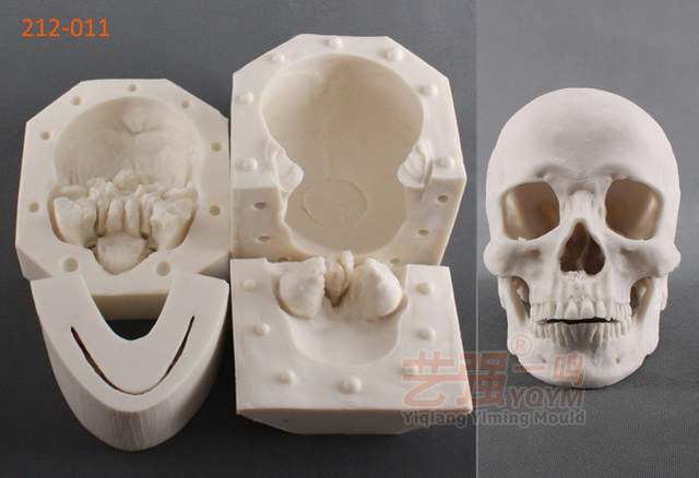 1 1 The Actual Size Skull 3d Silicone Fondant Cake Molds