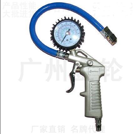 Taiwan com óleo de mesa de pressão dos pneus pneu de carro medidor de pressão dos pneus-arma-barômetro-mesa-elogio elogio inflável boca