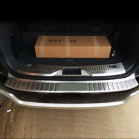 AITWATT For Ford Everest 2016 2017 2018 2019 Stainless Steel Inner And Outer Rear Bumper Trunk Pedal Protective Cover Car Parts