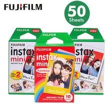 แท้50แผ่นสีขาวขอบฟูจิFujifilm Instax Mini 8ฟิล์มสำหรับ7วินาที/9/70/90/25 sp 1โพลารอยด์300ทันทีกล้องภาพกระดาษ