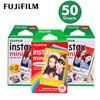 Chính hãng 50 Sheets Trắng Cạnh Fuji Fujifilm Instax Mini 8 Film Đối Với 7 s/9/70/90/25 sp Polaroid 300 Tức Máy Ảnh Ảnh giấy