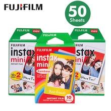 Echte 50 Blätter Weißen Rand Fuji Fujifilm Instax Mini 8 Film Für 7 s/9/70/90/25 sp 1 Polaroid 300 Instant Kameras Foto papier