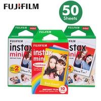 Genuine 50 Sheets White Edge Fuji Fujifilm Instax Mini 8 Film For 7s /9/70/90/25 sp 1 300 Instant Cameras Photo Paper