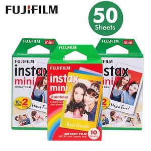 Image 1 - Papel fotográfico para cámara instantánea Fuji Fujifilm Instax Mini 8, borde blanco auténtico, 50 hojas, película para 7s /9/70/90/25 sp 1 300