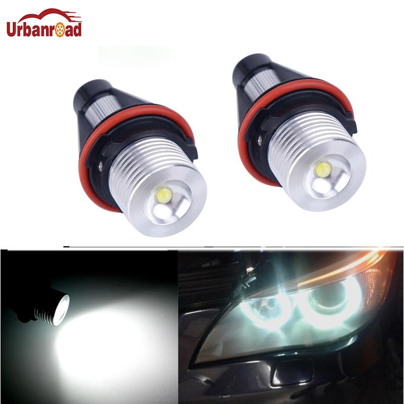 Urbanroad 2Pcs 3W 5W 10W Led Angel Eyes For BMW E39 6000K LED Light Lamp Bulb For BMW E39 E53 E60 E61 E63 E64 E65 E66 E83 E87