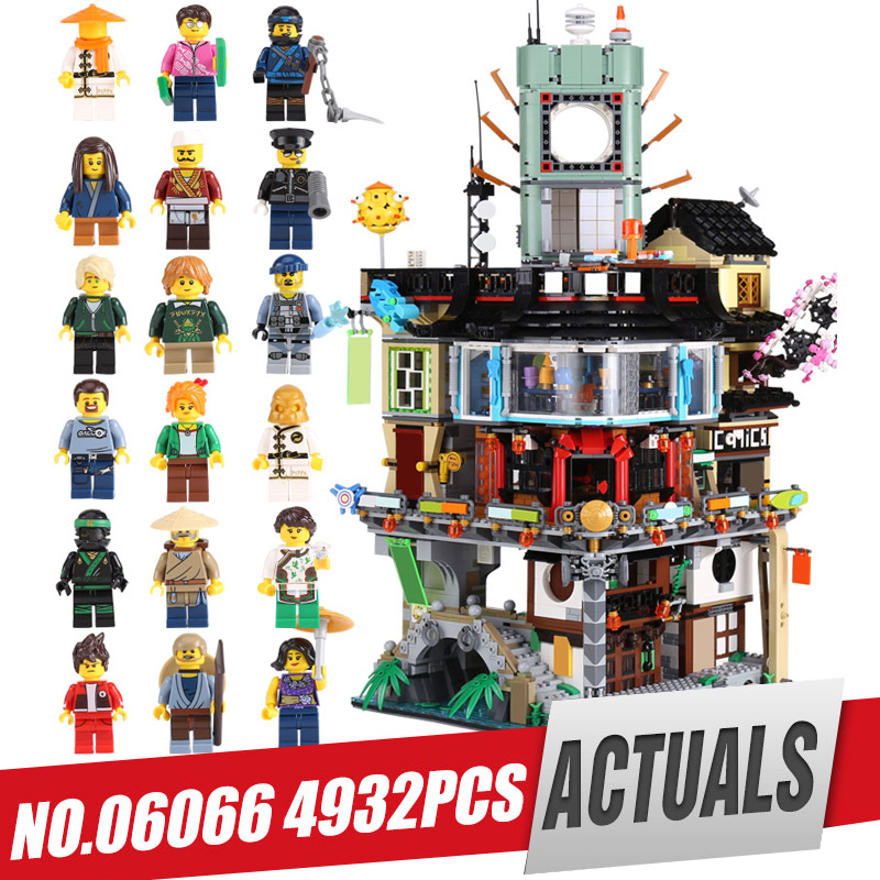 LEPIN 06066 City Series Construction Model Building Blocks kid Toys Bricks Compatible 70620 for Children IN Stock 4932pcs by DHL lepin 15004 2313pcs city creator series fire brigade model building blocks bricks toys for children gift compatible 10197