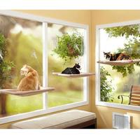 High Quality Soft Cat Dog Pets Hammock Window Mounted Bed Sofa Cushion Hanging Shelf Seat with Suction Mat YH 460621