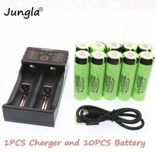 NCR18650B 18650 3400 мАч 3,7 в 18650 3400 мАч литий-ионная аккумуляторная батарея Аккумуляторный блок карманного электрического+ 18650 зарядное устройство