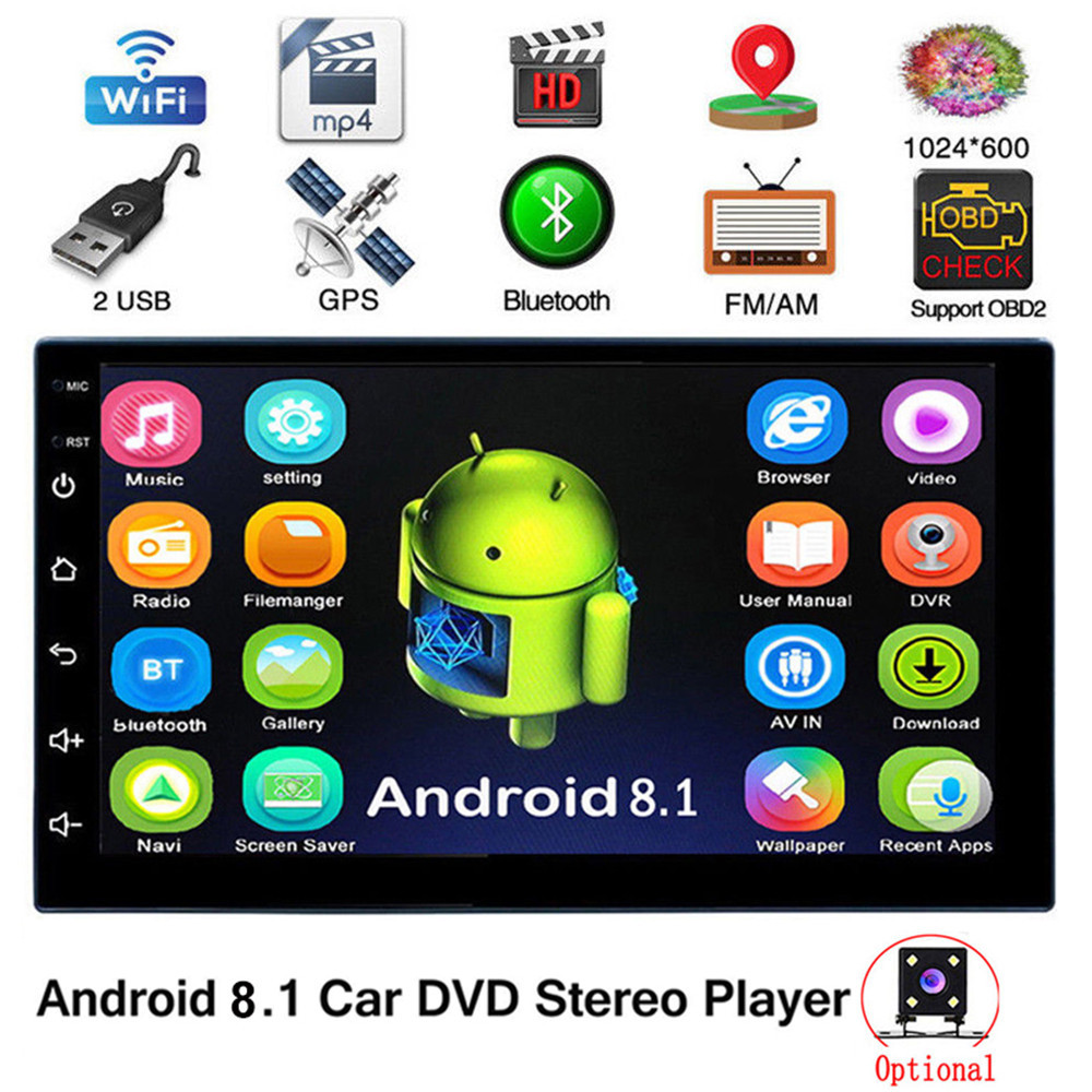 2Din Android 8.1 Car Radio GPS Navigation Bluetooth WIFI 7 Inch Universal Car Autoradio Stereo Car Multimedia MP5 Player