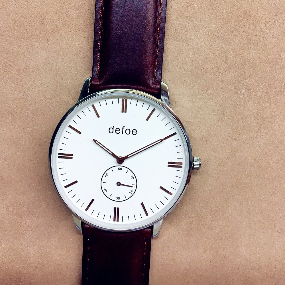 Defoe Women's Watch Stainless Steel Real leather High ...