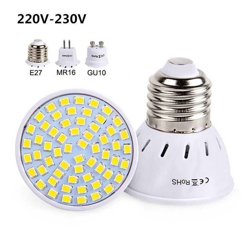 Led Spotlight 220V 230V Led Lamp Bulb E27 GU10 MR16 High Bright ...