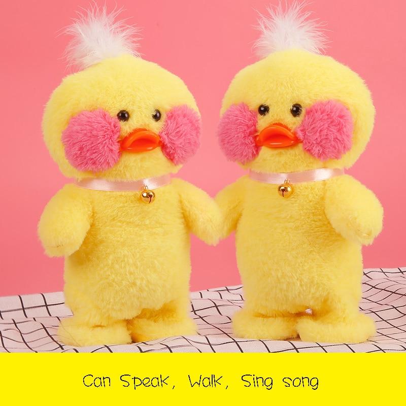 Электрический Плюшевые говорить желтая утка игрушки детские подарки на день рождения интерактивные развивающие игрушки ...