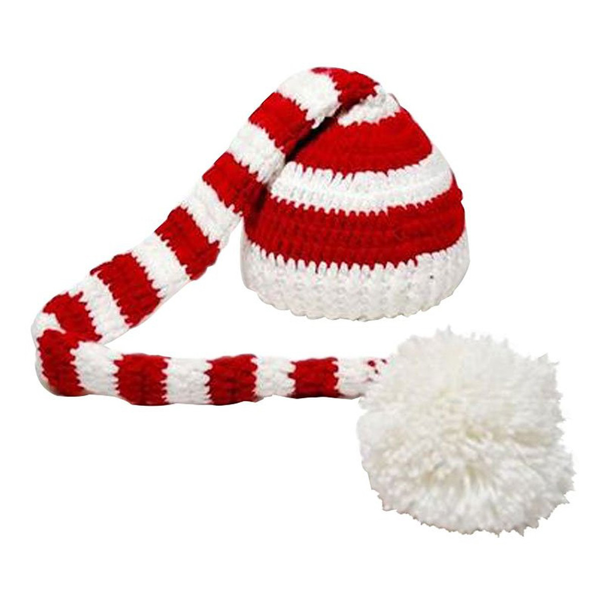 Baby Hat Handmade Christmas Beanies Costume Knitted Newborn Long Tail Crochet Newborn Photography Props Accessories