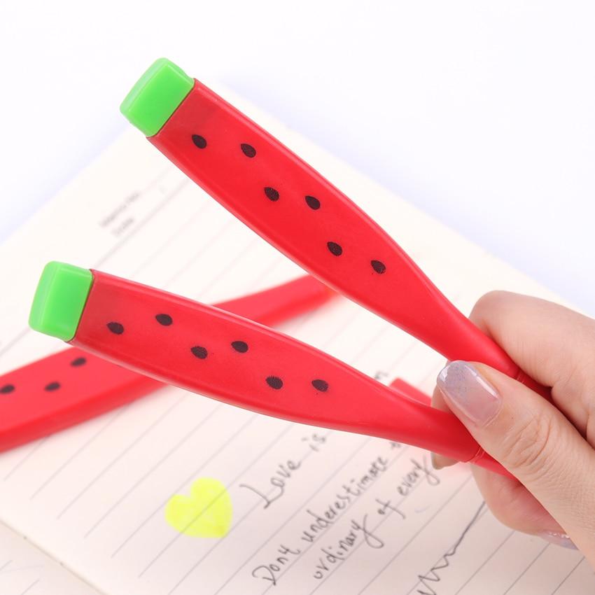Cute Watermelon Gel Pens Kawaii 0.38mm Black Ink Pen Canetas School Student Office Stationery Material Escolar