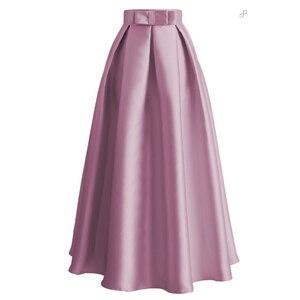 Image 3 - Jupe plissée longue pour femmes, robe Abaya, mode musulmane, vêtements taille haute, collection décontracté
