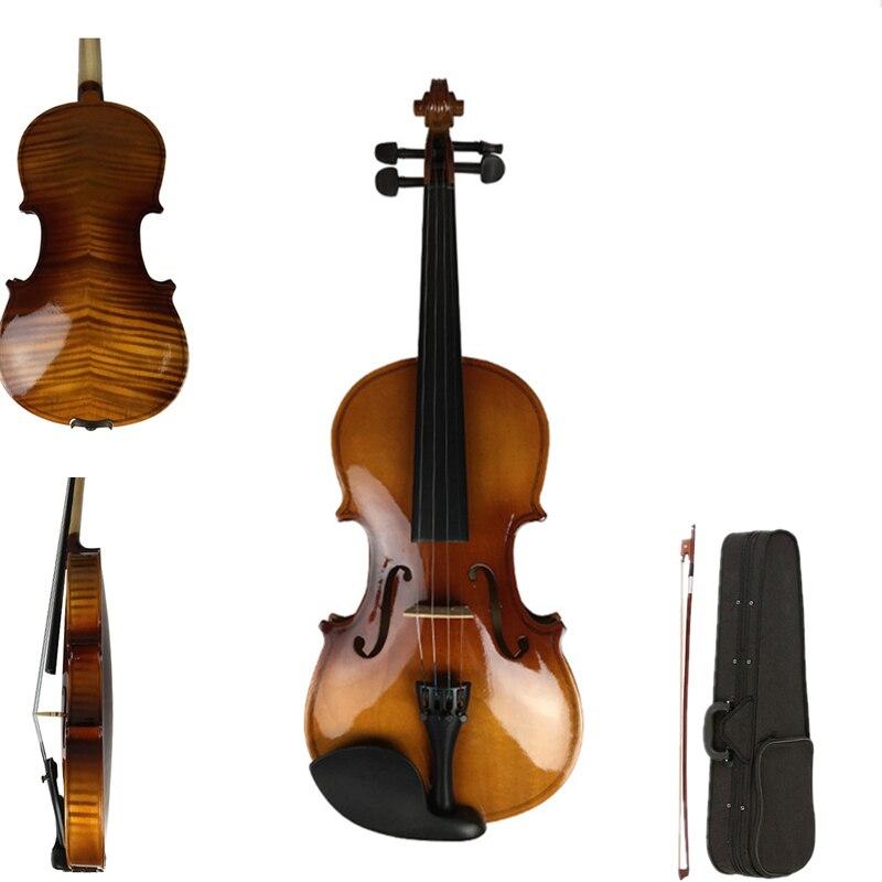 Handmade Violin 4 4 3 4 Antique violin FULL Violino 15 years wood made 1 2
