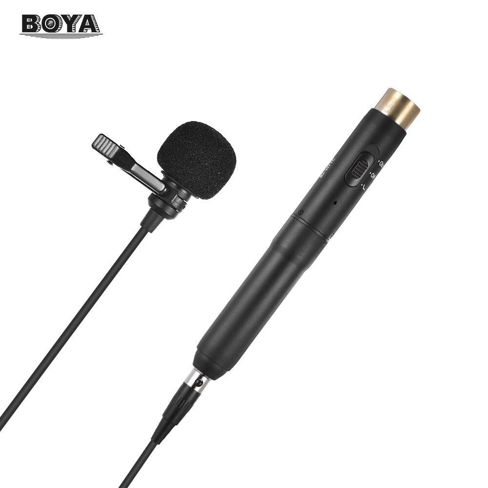 BOYA BY-M11C pince cravate Microphone 3 broches XLR prise pour enregistrement sonore avec motif polaire cardioïde interrupteur de filtre coupe basse