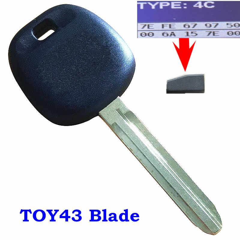New Replacement Car Uncut Transponder Ignition Key w 67 Chip Toy44d-pt for Toyota 2 Pack