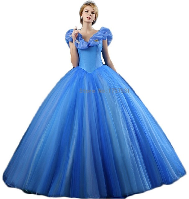 2015 Popular Trend Cinderella Blue Pageant Dress V Neck Sleeveless