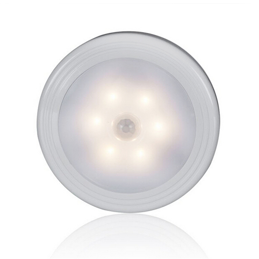 Modern Smart 6 LEDs PIR Body Motion Sensor Activated Wall Light Night Light Induction Lamp Closet Corridor Cabinet 8*8*2.6cm usb pir motion sensor night light led human body induction lamp closet stair light wall lamps novelty gift