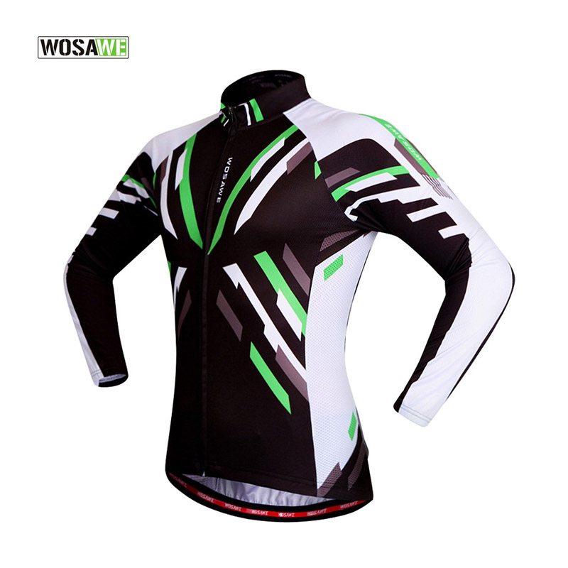 WOSWE New Men Cycling Sport Quick Dry Jersey Spring Autumn Anti-sweat Bike Riding Running Jersey Long Sleeved Fitness Wear