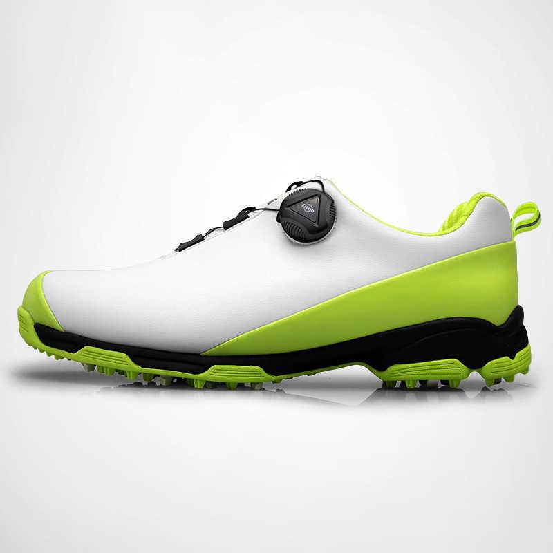 Zuoxiangru חדש גברים של נעלי גולף עמיד למים מערכות רוטרי אבזם שרוך נעל חיצוני מקצועי כפול גולף נעליים