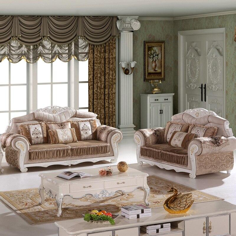 4 Pcs Of 1 Set Antique Design Fabric Living Room Sofa #SF 016(