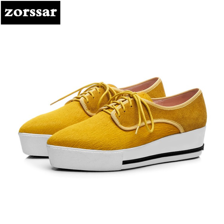 {Zorssar} 2018 Fashion horse hair women flat platform Loafers Female Casual shoes Flats Pointed toe Shoes Ladies platform shoes women flat platform loafers shoes 2018 new brand women leather casual platform shoes for ladies new fashion flats shoes women