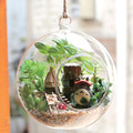B010 Forest Elf diy nimi dollhouse miniature glass ball diy miniatures wooden doll house voice led lights free shhipping