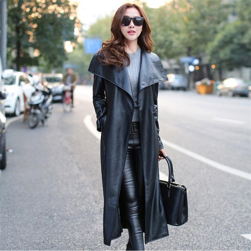 M-3XL   Leather   Jacket Women Fashion   Leather   Jacket Women Plus Size Casual Turn Down Collar Coat Jaqueta De Couro Feminino A1460