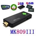 MK809III Quad-Core RK3188 Android 4.2 Smart TV Box Mini PC Google TV Player w/ 2GB RAM / 8GB ROM / Bluetooth - Black