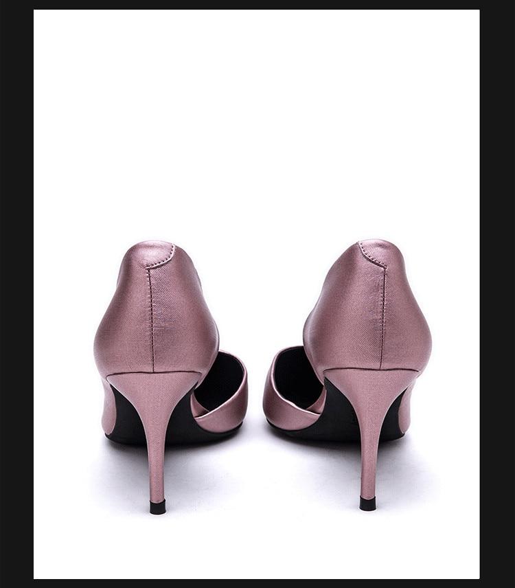 Nouveau Talon Chaussures Brevet 2018 Femmes Pointu Super Bout Partie De Cuir Cm Mince Haute En Dame Weiyishi 8 SWnY5w1xqq