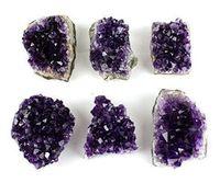 100% אורוגוואי טבעי אמטיסט אבן קריסטל אשכול קוורץ ריפוי רייקי צ 'אקרה משלוח חינם