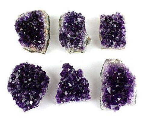 100% Uruguay Naturale Ametista Cristallo di Quarzo Cluster Healing Reiki Chakra Stone-2