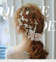 Meiysh Bridal Flower Side Hair Clips Pearl Bridal Headpiece Wedding Accessories