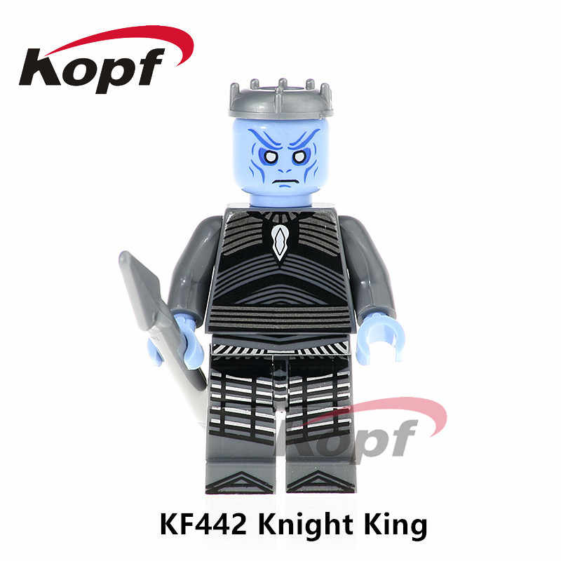Single Sale Super Heroes Game of Thrones Knight King Barristan Selmy Supergirl Iron Man Building Blocks Children Gift Toys KF442