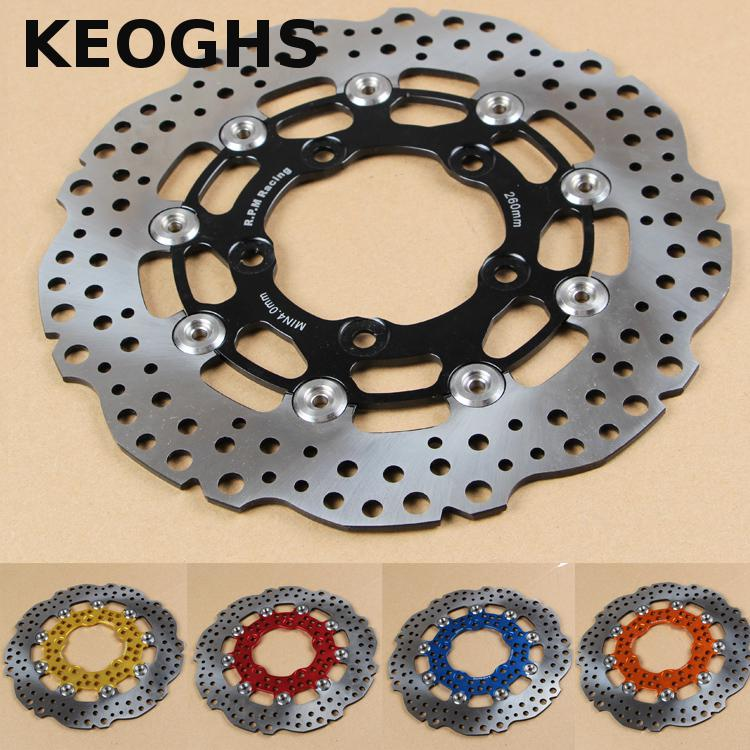 KEOGHS Motorcycle Brake Disc/brake rotor Floating 260mm Disc Cnc Aluminum Alloy For Yamaha Scooter Bws 125 Cygnus Modified keoghs motorbike rear brake caliper bracket adapter for 220 260mm brake disc for yamaha scooter dirt bike modify